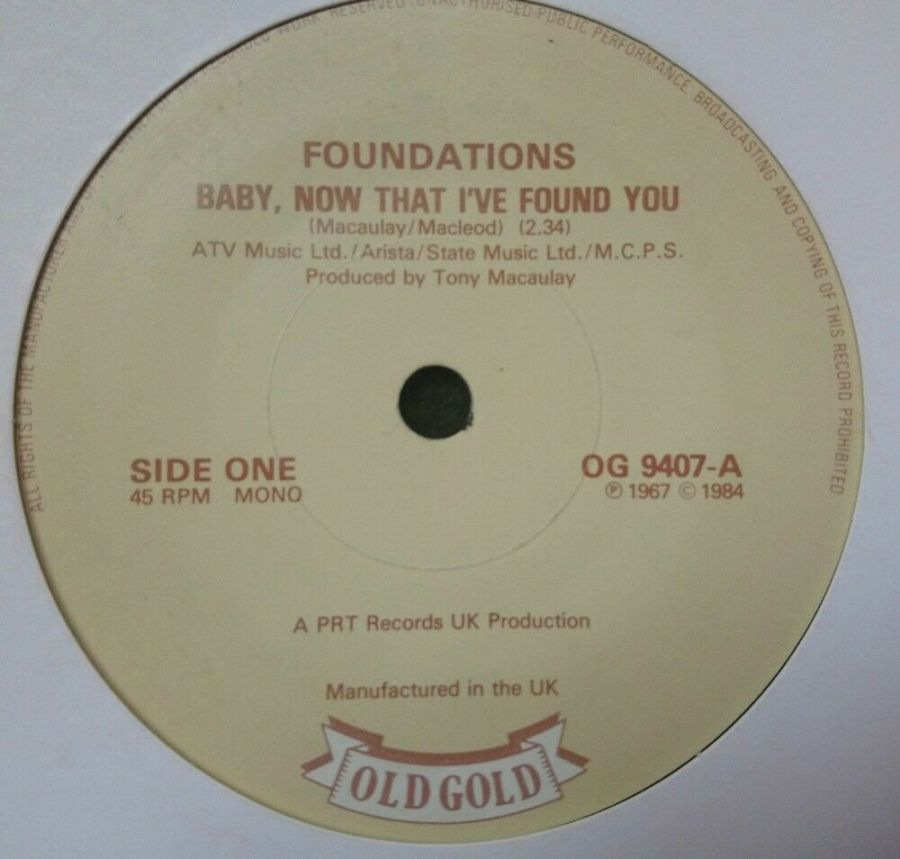 Foundations - Baby, Now That I've Found You - 7