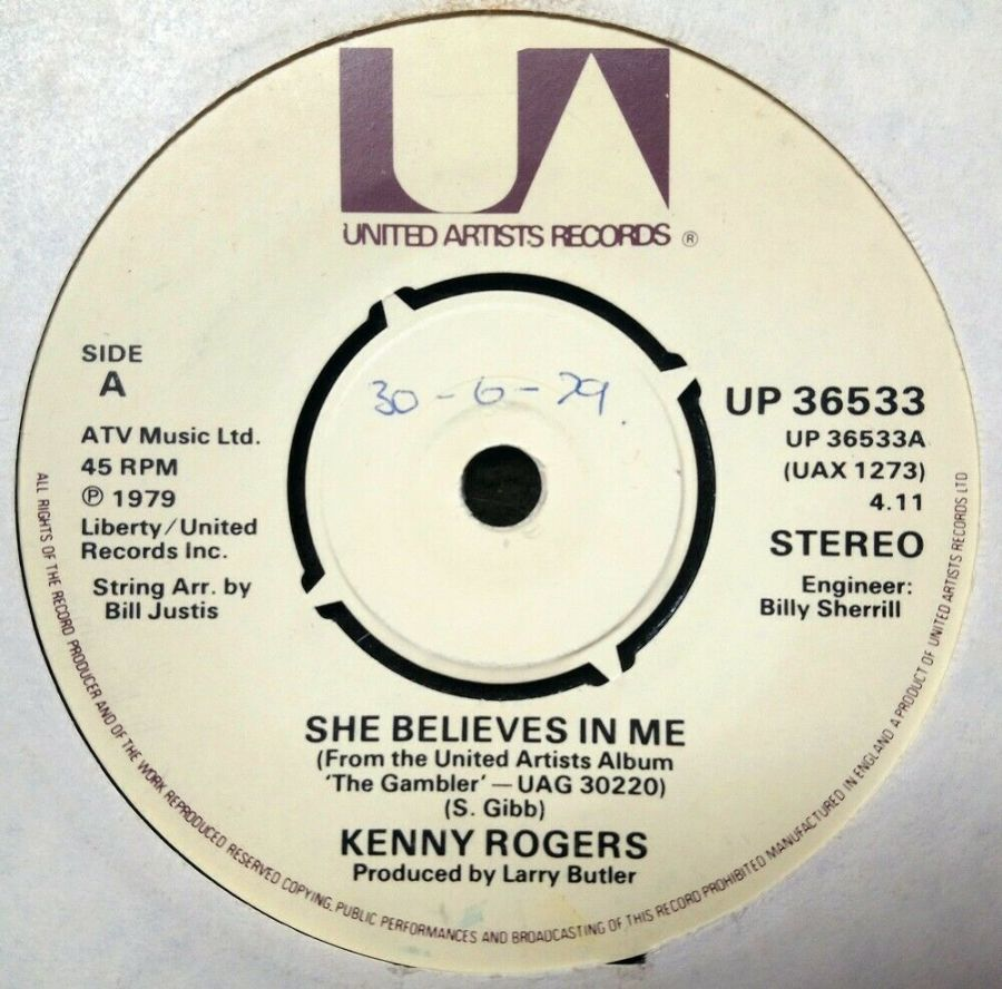 Kenny Rogers - She Believes In Me - 7