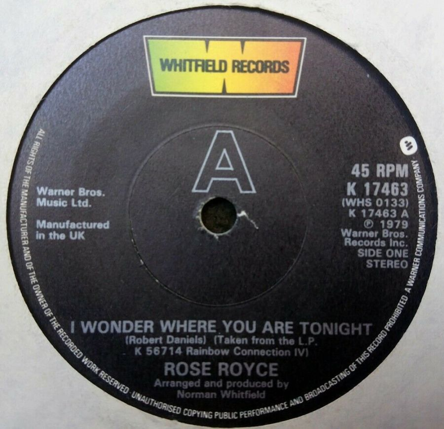 Rose Royce - I Wonder Where You Are Tonight - 7