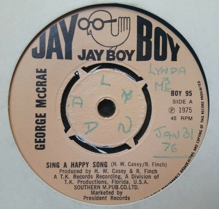 George McCrae - Sing A Happy Song - Vinyl Record 45 RPM