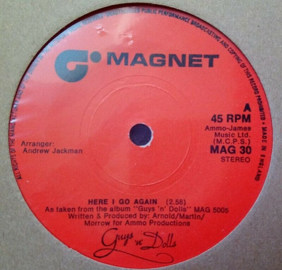 Guys And Dolls - Here I Go Again - Vinyl Record 45 RPM