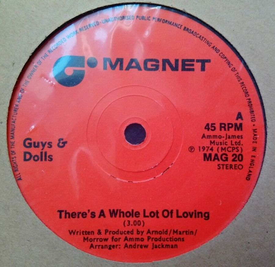 Guys And Dolls - There's A Whole Lot Of Loving - Vinyl Record 45 RPM
