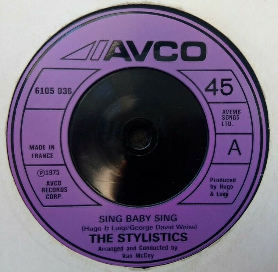 The Stylistics - Sing Baby Sing - Vinyl Record 45 RPM