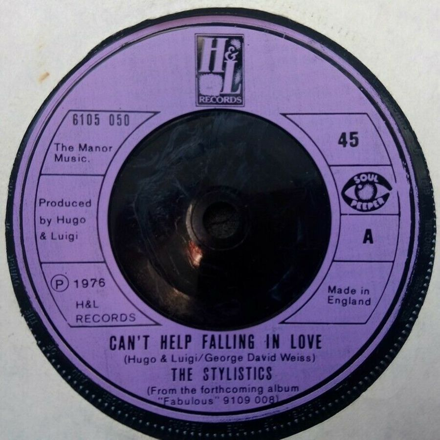 The Stylistics - Can't Help Falling In Love - Vinyl Record 45 RPM