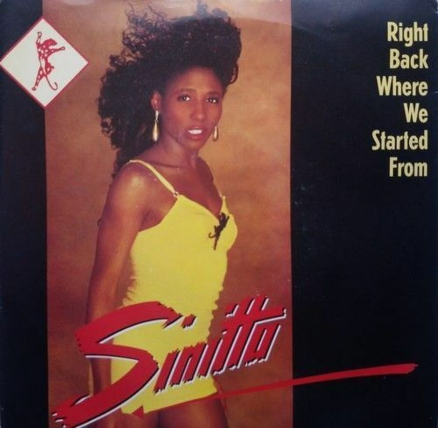Sinitta - Right Back Where We started From - Vinyl Record 7