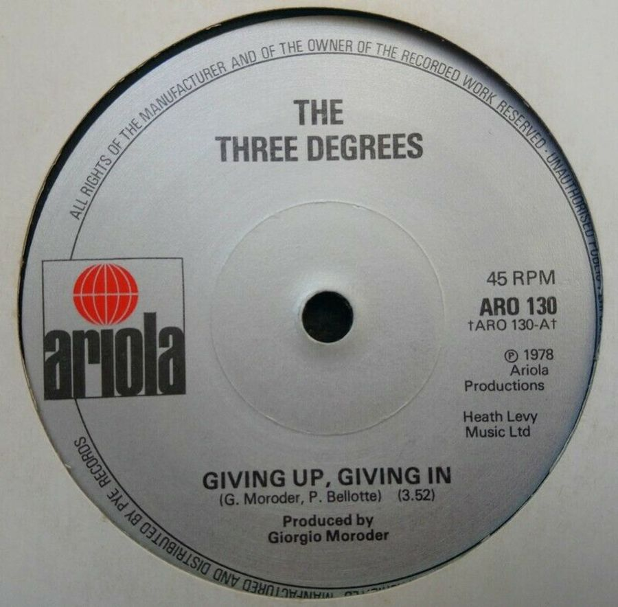 The Three Degrees - Giving Up On Giving In - 7