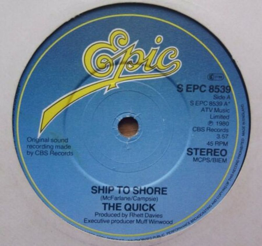 The Quick - Ship To Shore - Vinyl Record 7