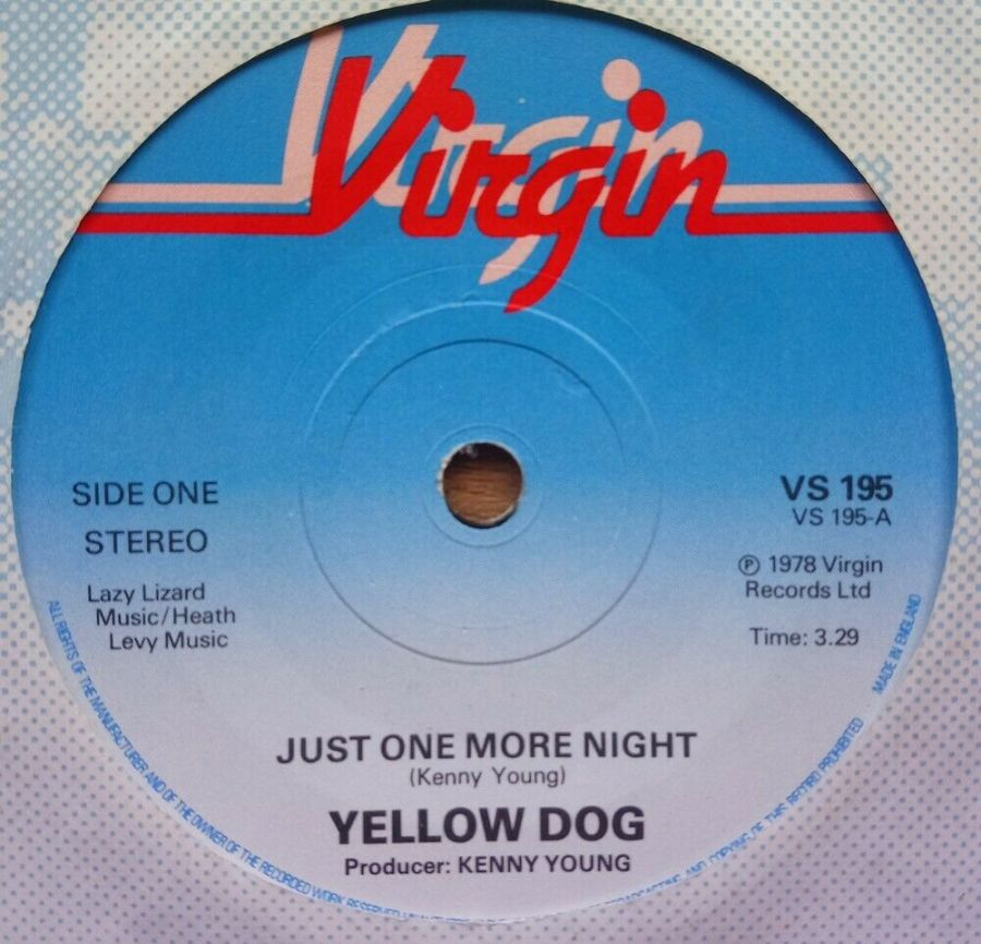 Yellow Dog - Just One More Night - Vinyl Record 7