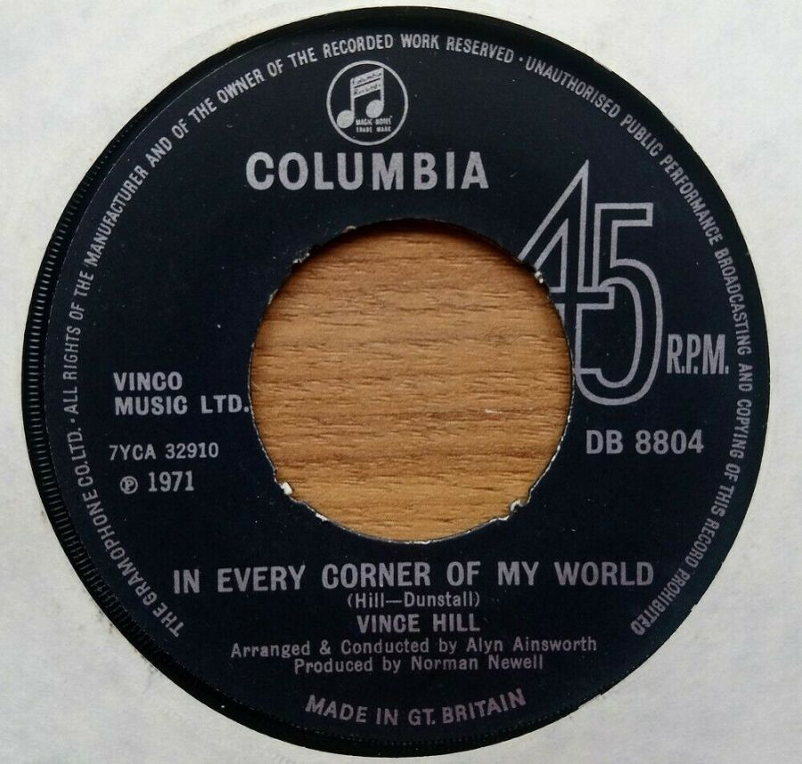 Vince Hill - In Every Corner Of My World - 7