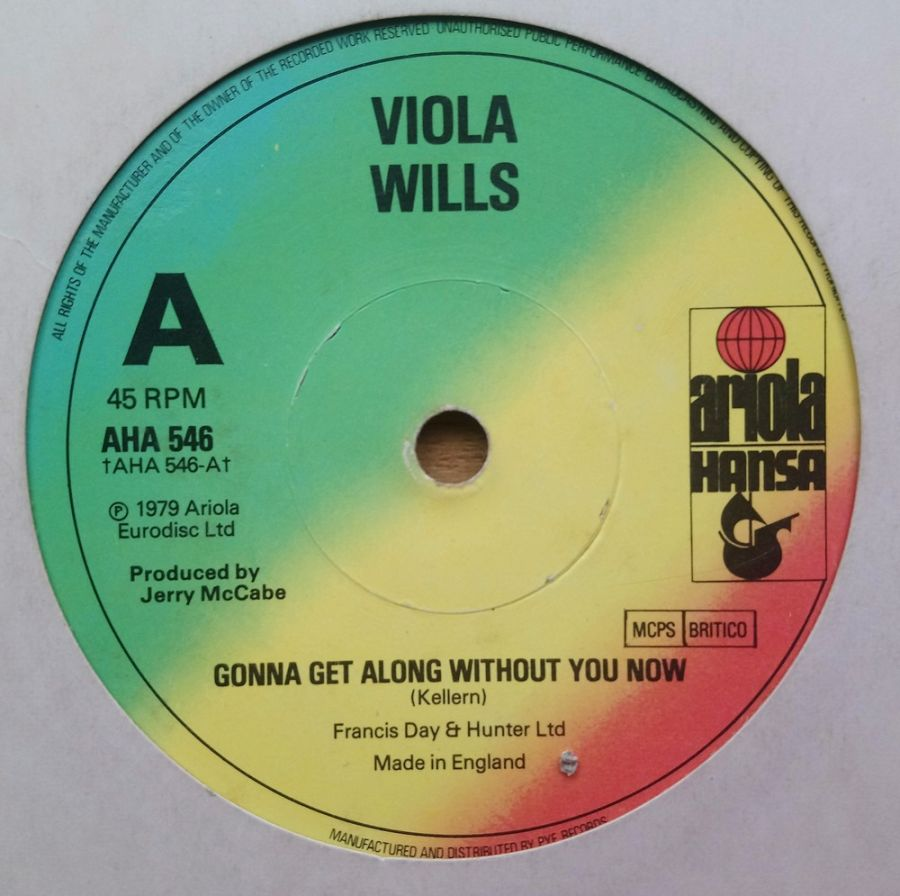 Viola Wills - Gonna Get Along Without You Now - Vinyl Record 7