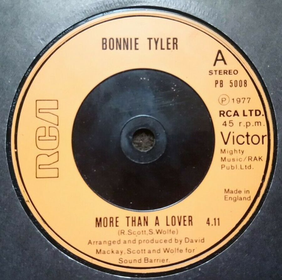 Bonnie Tyler - More Than A Lover - Vinyl Record 7
