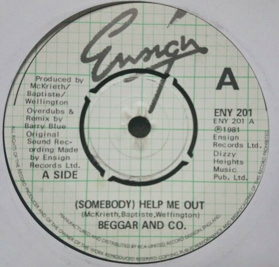 Beggar & Co - ( Somebody ) Help Me Out - Vinyl Record 7