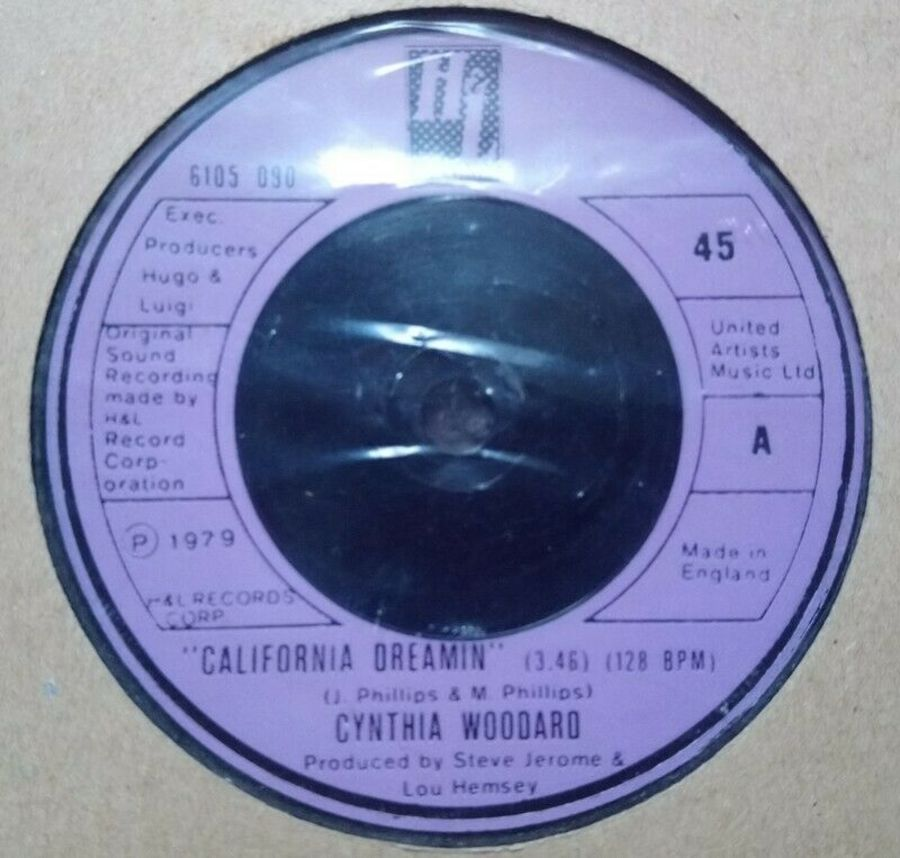 Cynthia Woodard - California Dreamin! - Vinyl Record 7