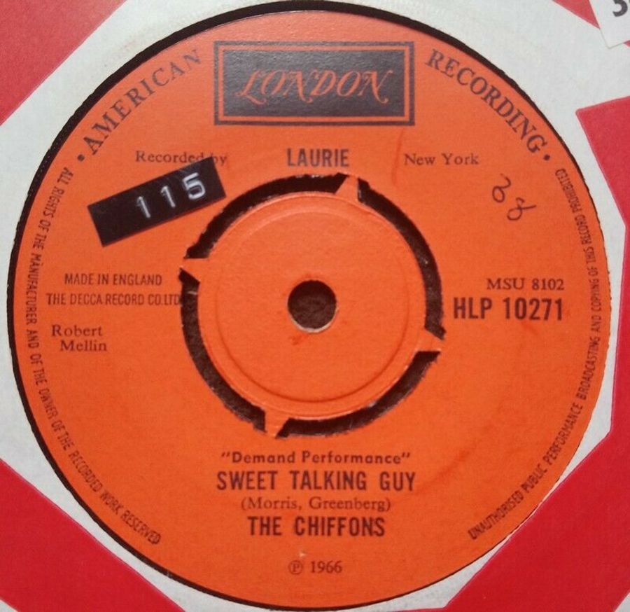The Chiffons - Sweet Talking Guy - Vinyl Record 7