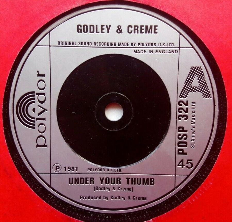 Godley & Creme - Under Your Thumb- Vinyl Record 7