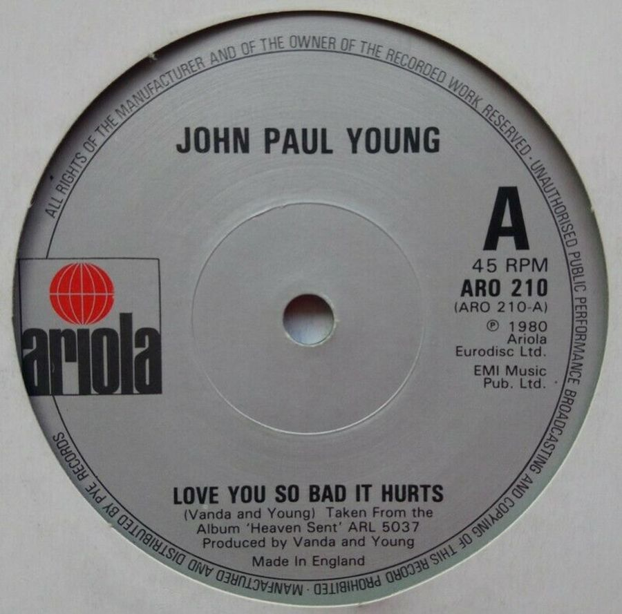 John Paul Young - Love You So Bad It Hurts - Vinyl Record