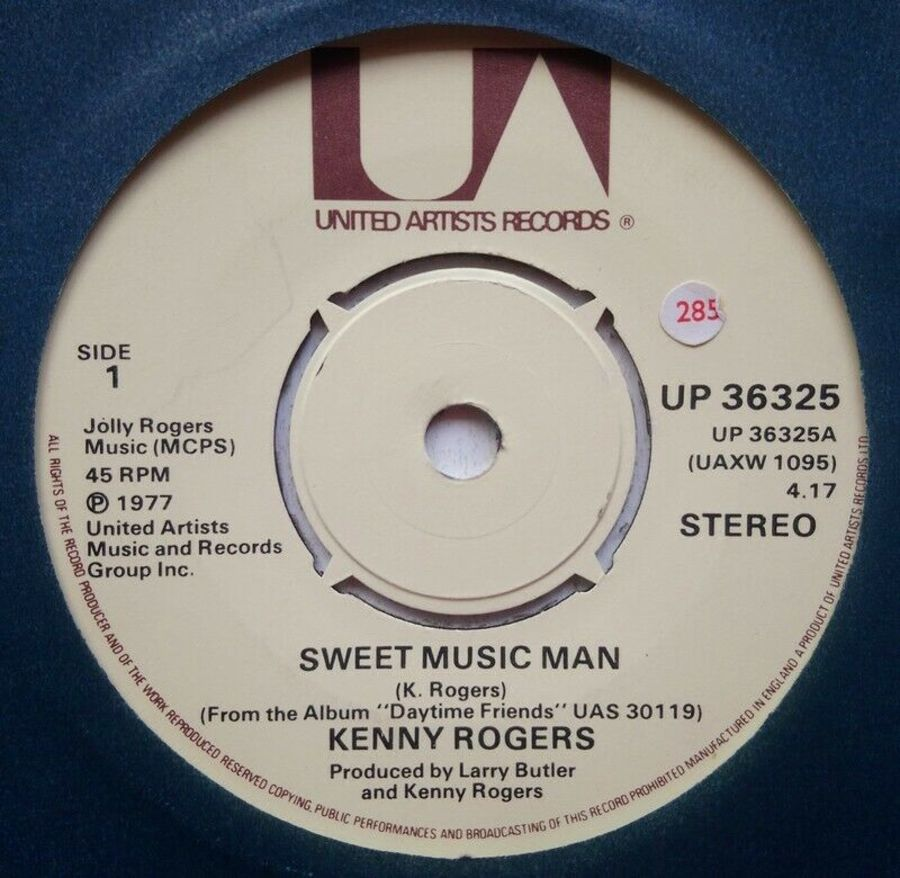 Kenny Rogers - Sweet Music Man - Vinyl Record 7