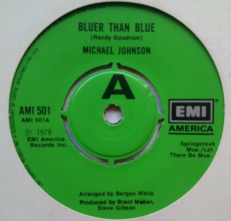 Michael Johnson - Bluer Than Blue - Vinyl Record 7