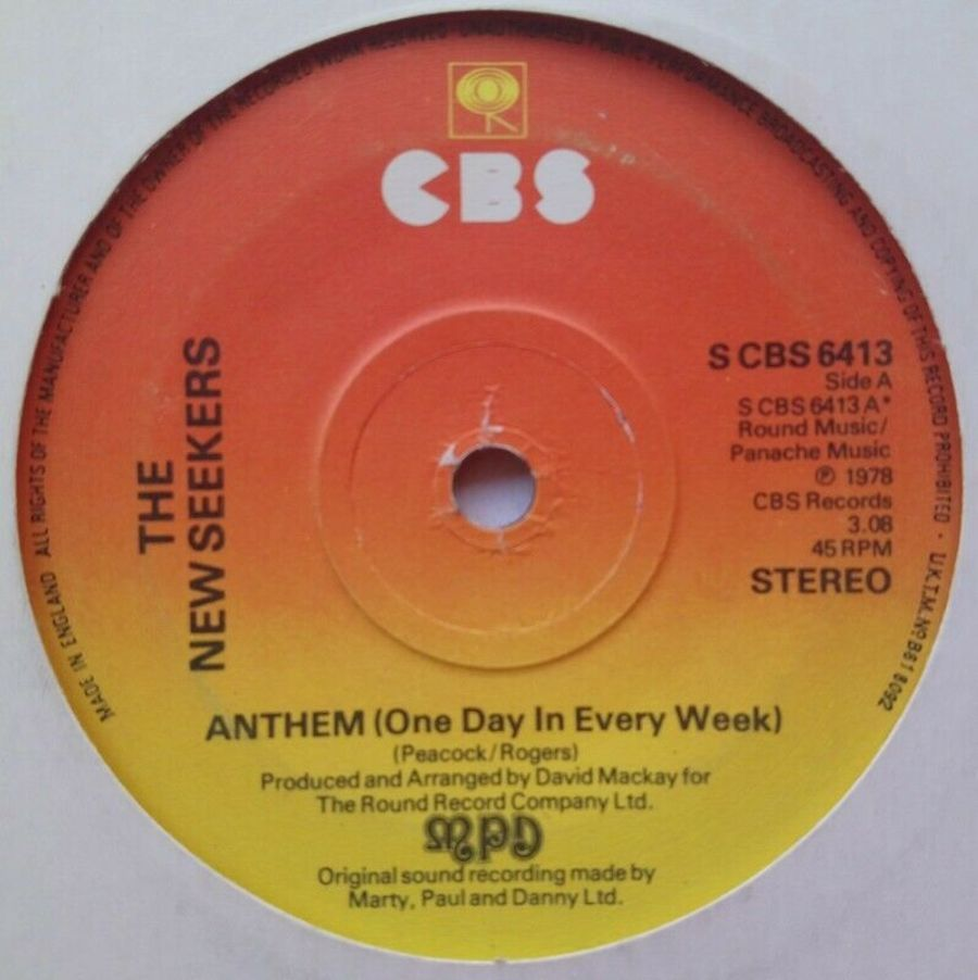The New Seekers - Anthem ( One Day In Every Week ) - 7