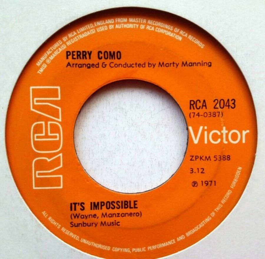 Perry Como - It's Impossible - 7