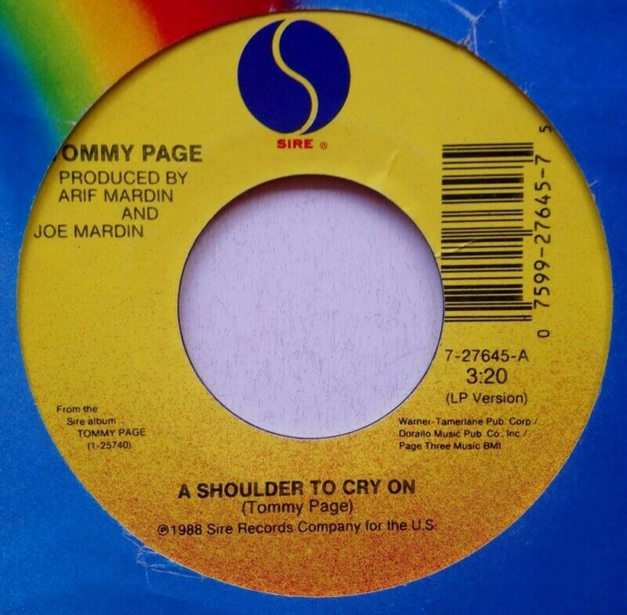 Tommy Page - A Shoulder To Cry On - Vinyl Record 7