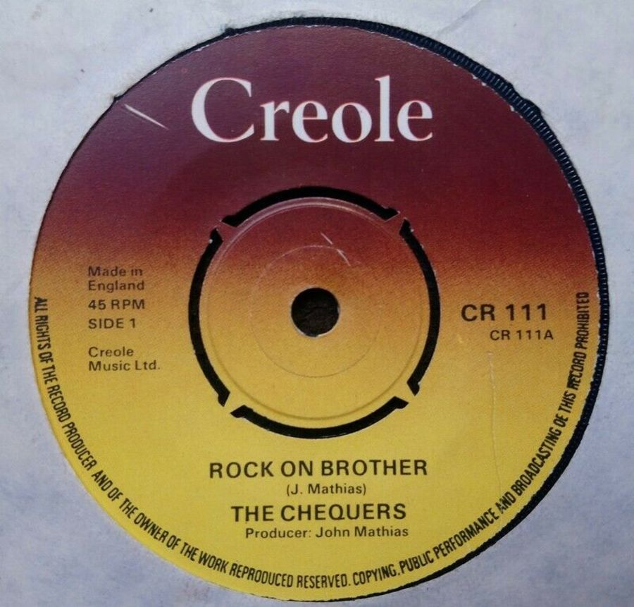 The Chequers - Rock On Brother - Vinyl Record 7