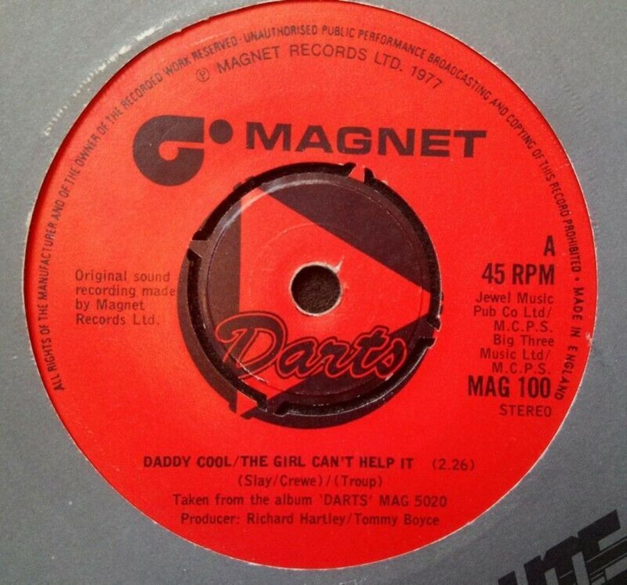 Darts - Daddy Cool / The Girl Can't Help It - Vinyl Record 7
