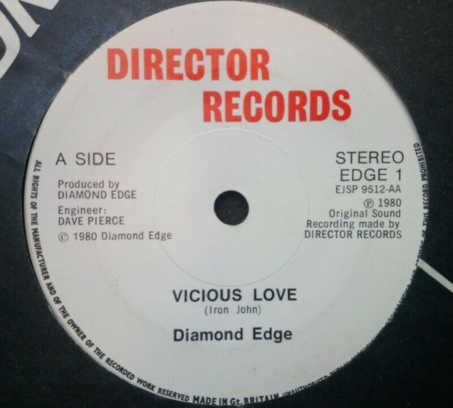 Diamond Edge - Vicious Love- Vinyl Record 7