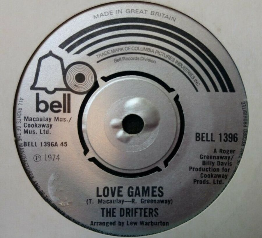 The Drifters - Love Games - Vinyl Record 7