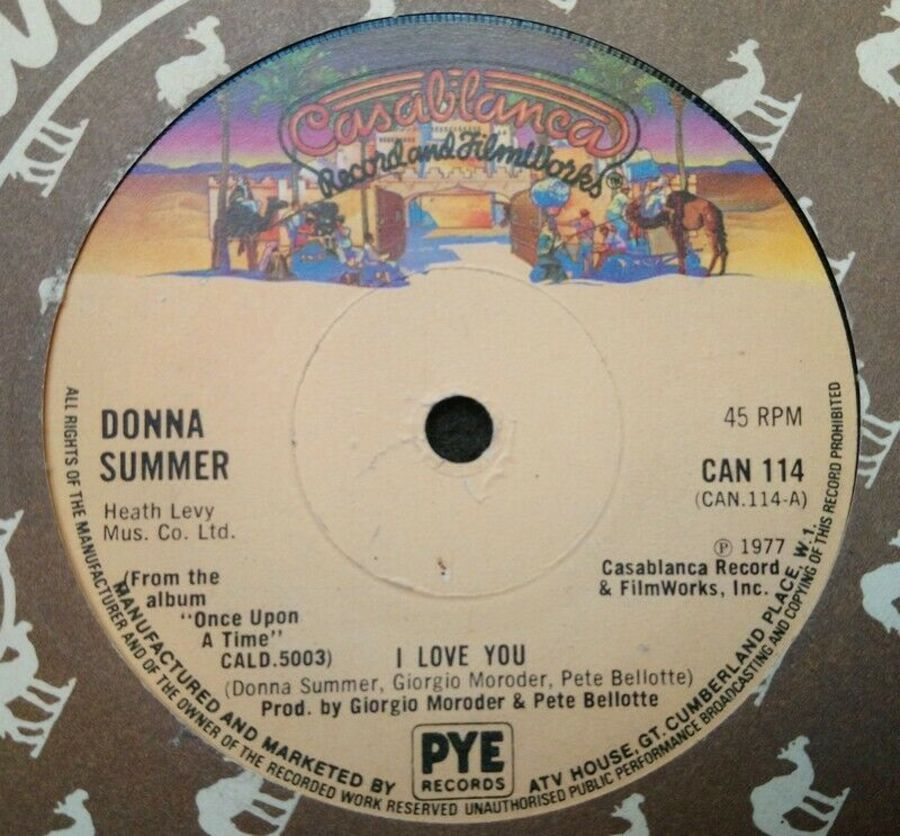Donna Summer - I Love You - Vinyl Record 7