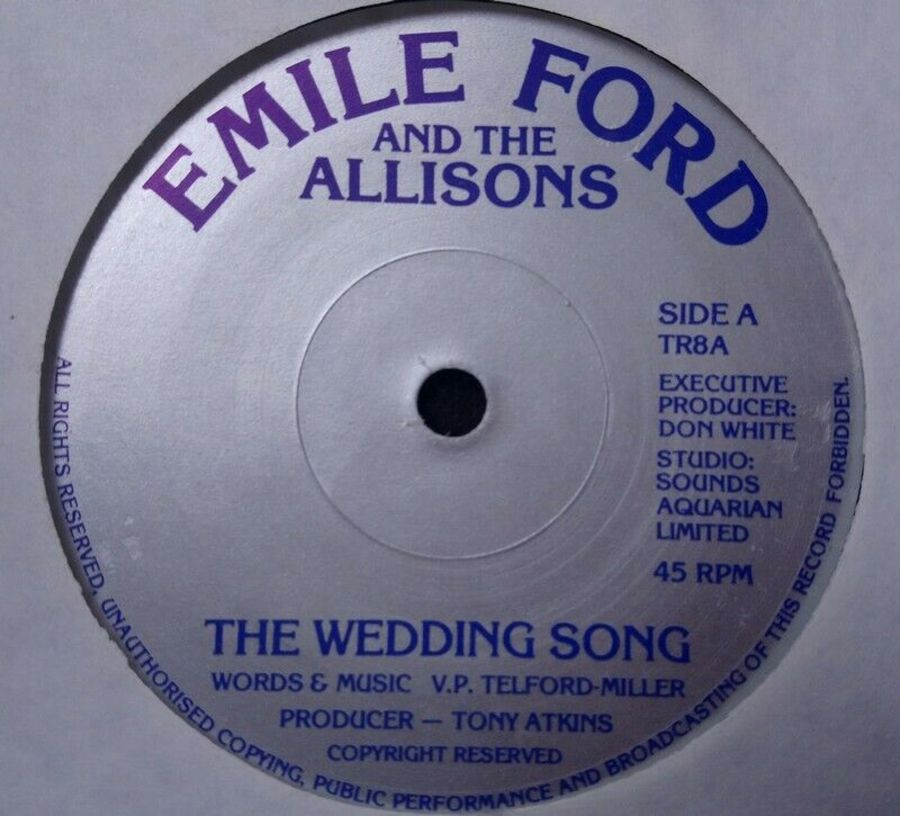 Emile Ford - The Wedding Song - Vinyl Record 7