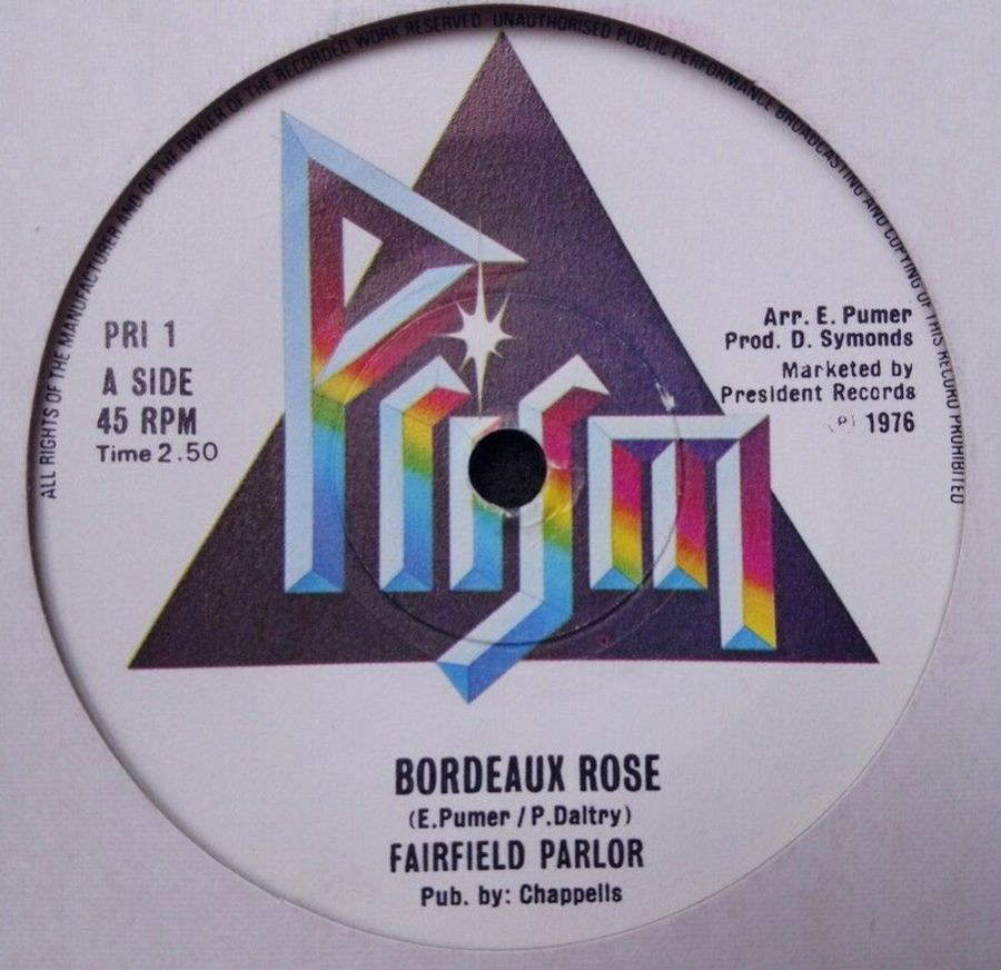Fairfield Parlor - Bordeaux Rose - Vinyl Record