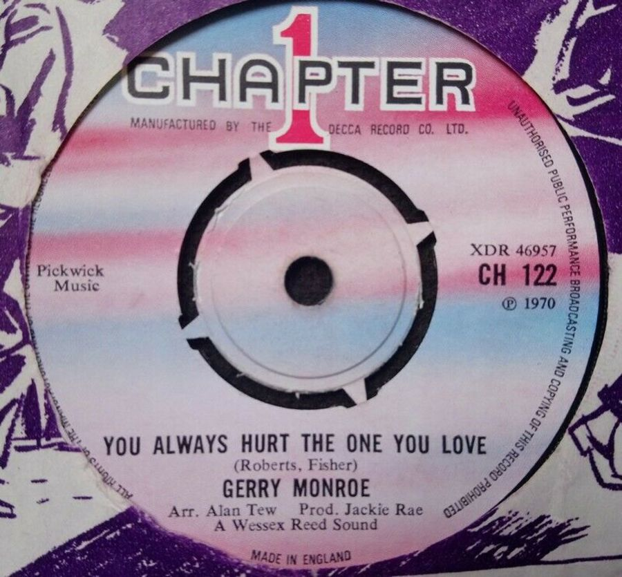Gerry Monroe - You Always Hurt The One You Love - Vinyl Record 7