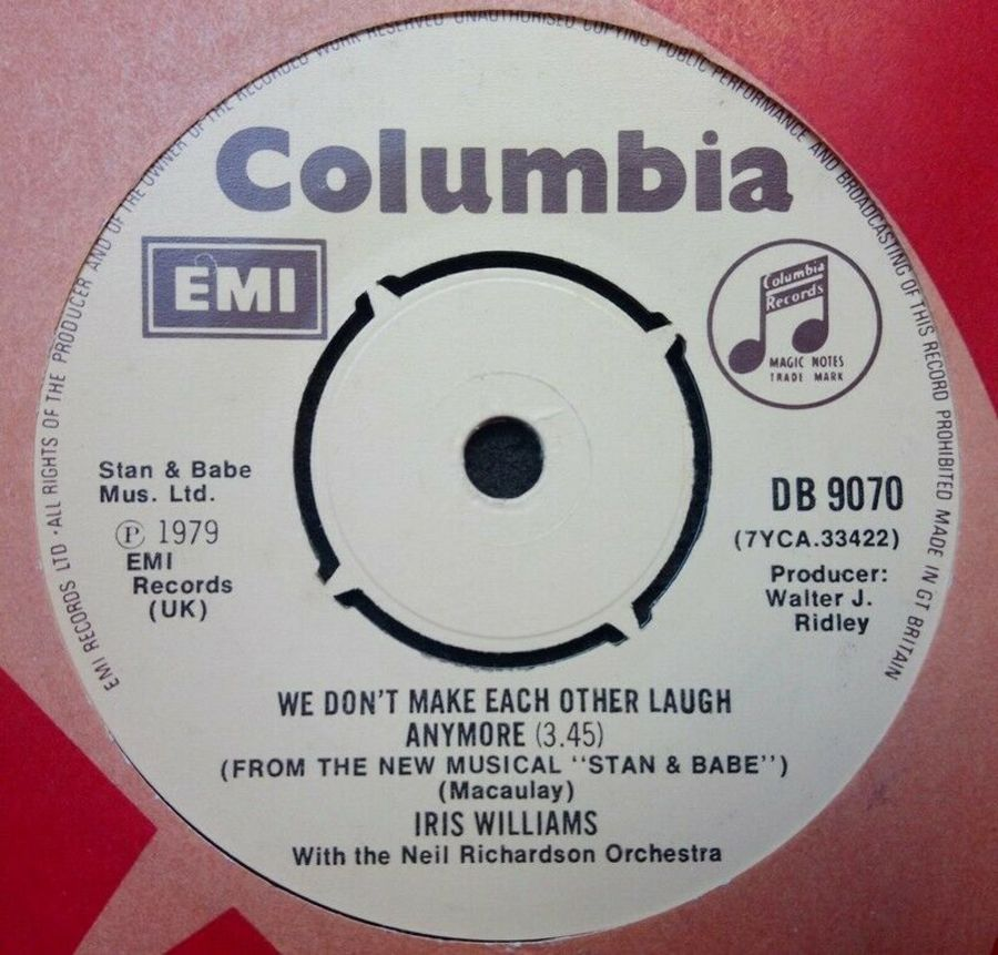 Iris Williams - We Don't Make Each Other Laugh Anymore - Vinyl Record 7