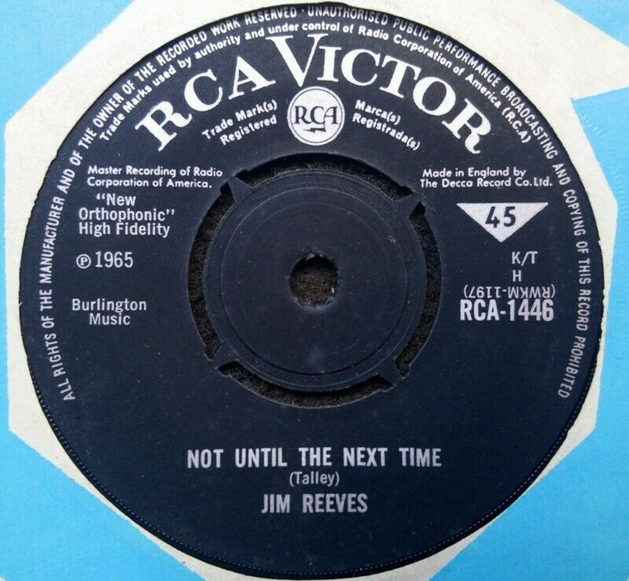 Jim Reeves - Not Until The Next Time - Vinyl Record