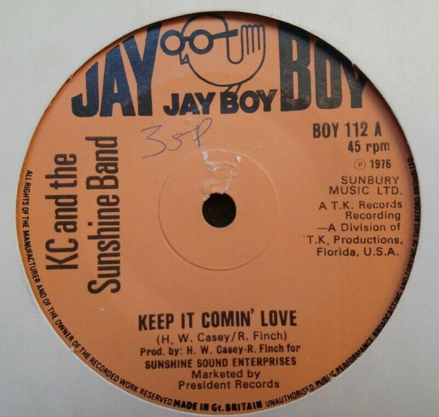 KC And The Sunshine Band - Keep It Comin Love - Vinyl Record 7