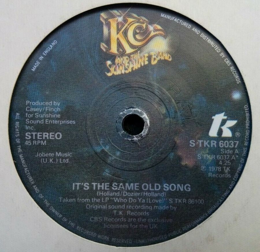 KC And The Sunshine Band - It's The Same Old Song - Vinyl Record 7