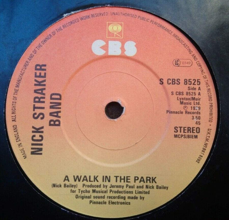 Nick Straker Band - A Walk In The Park - Vinyl Record