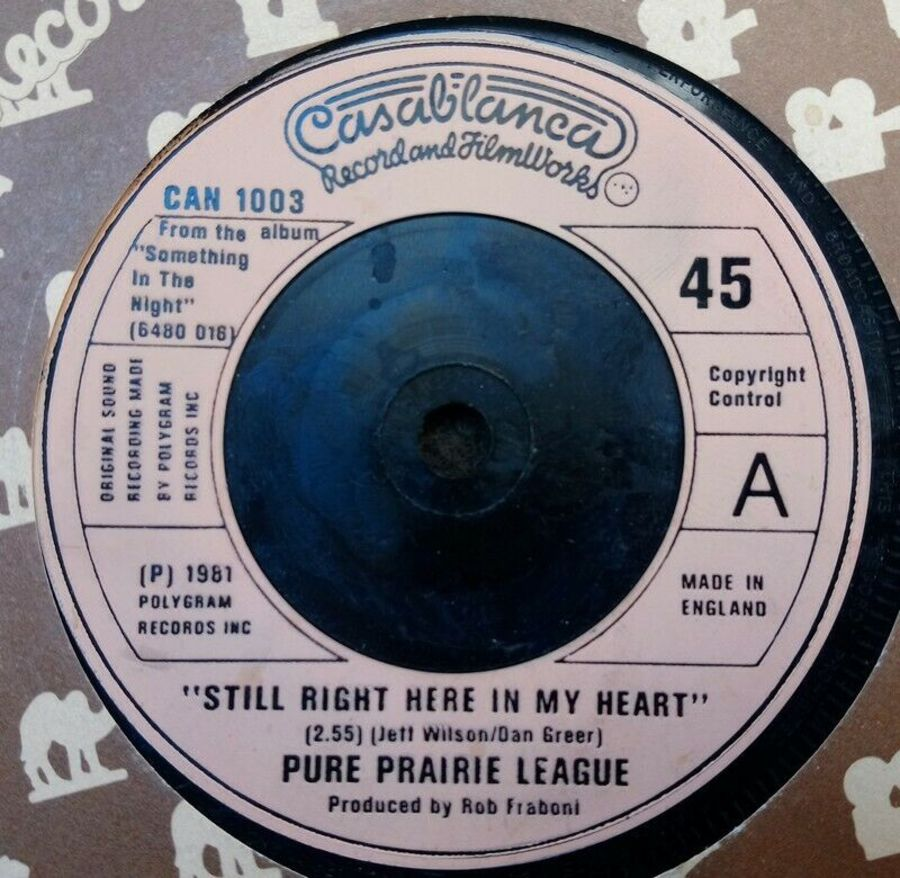 Pure Prairie League - Still Right Here In My Heart - Vinyl Record 7