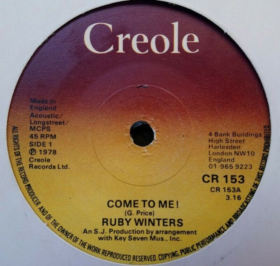 Ruby Winters - Come To Me - Vinyl Record 7
