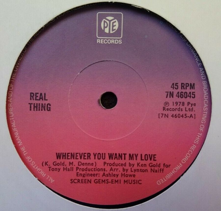 Real Thing - Whenever You Want My Love - Vinyl Record 7