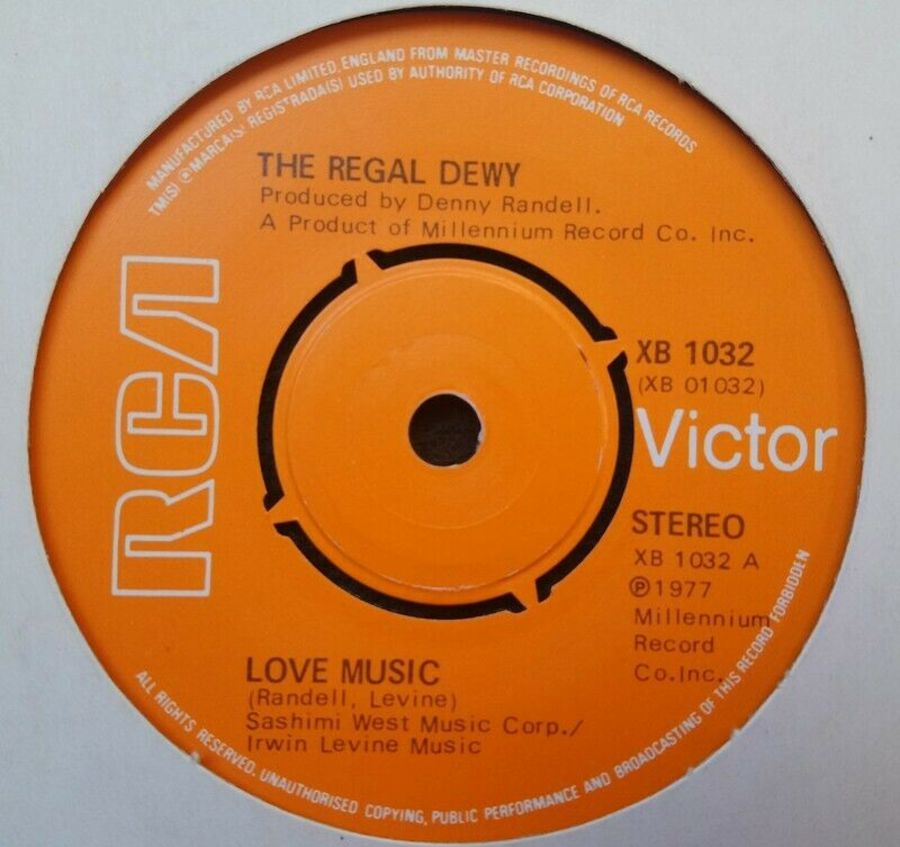 The Regal Dewy - Love Music - Vinyl Record