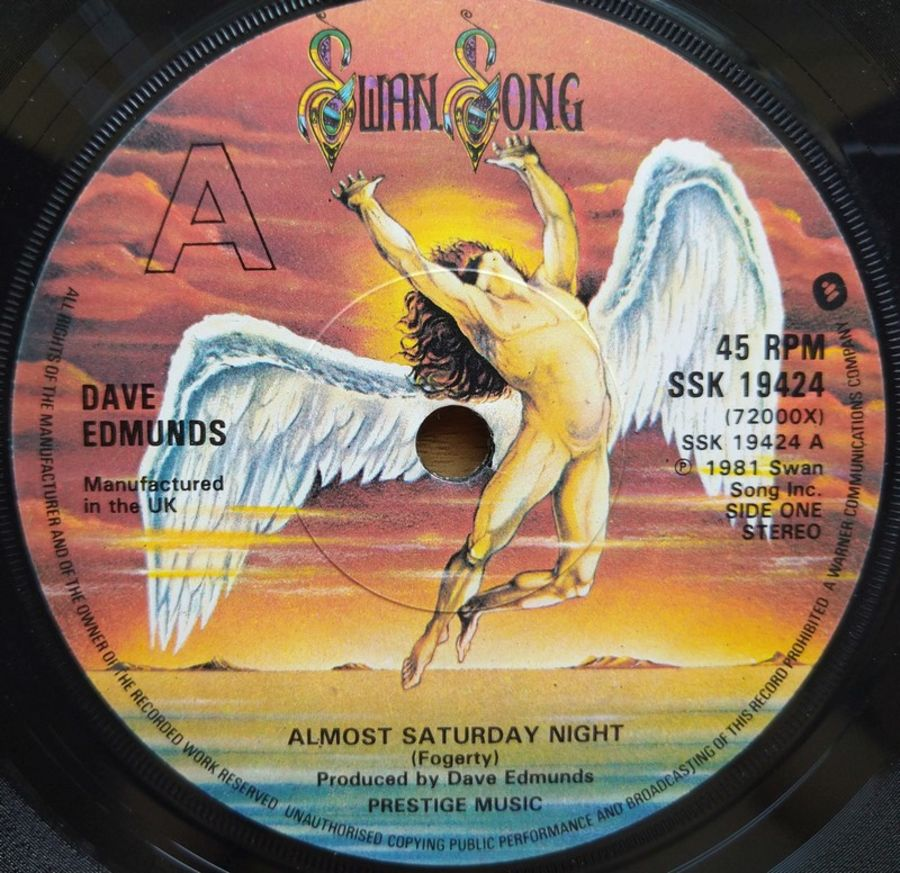 Dave Edmunds - Almost Saturday Night - Vinyl Record 7