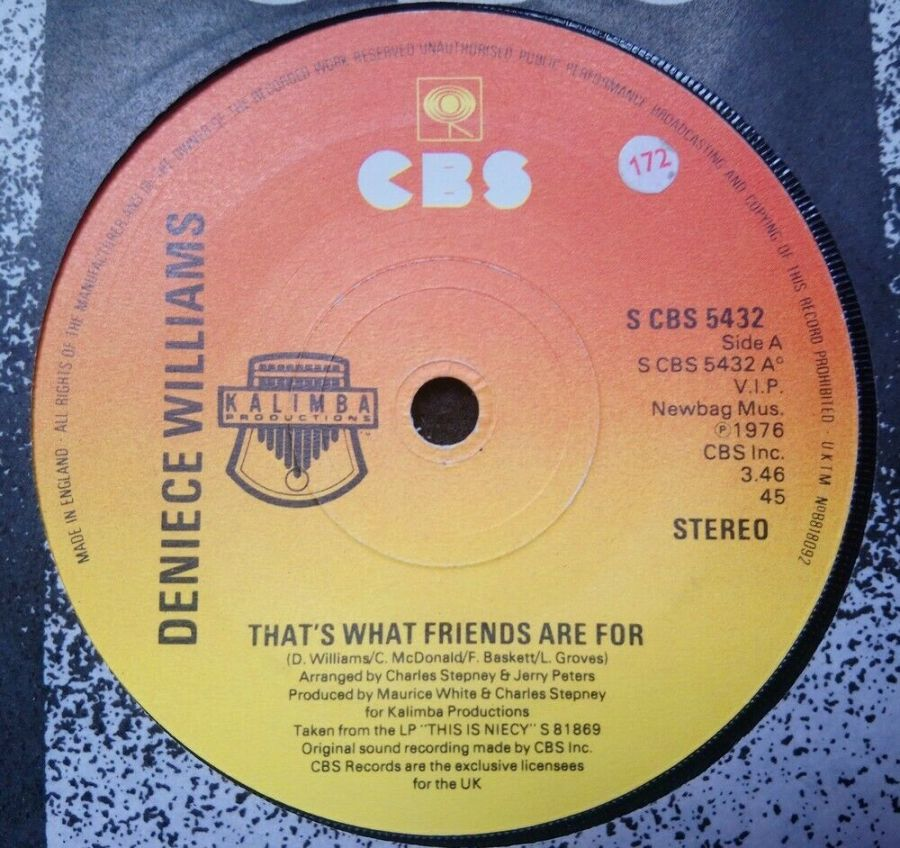 Deniece Williams - That's What Friends Are For - Vinyl Record 7