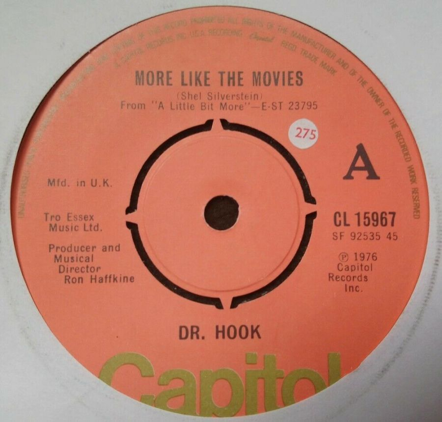 Dr Hook - More Like The Movies - Vinyl Record 7