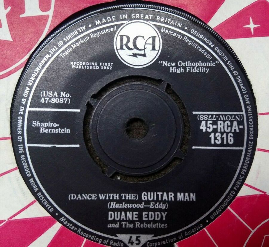 Duane Eddy - ( Dance With The ) Guitar Man - Vinyl Record 7