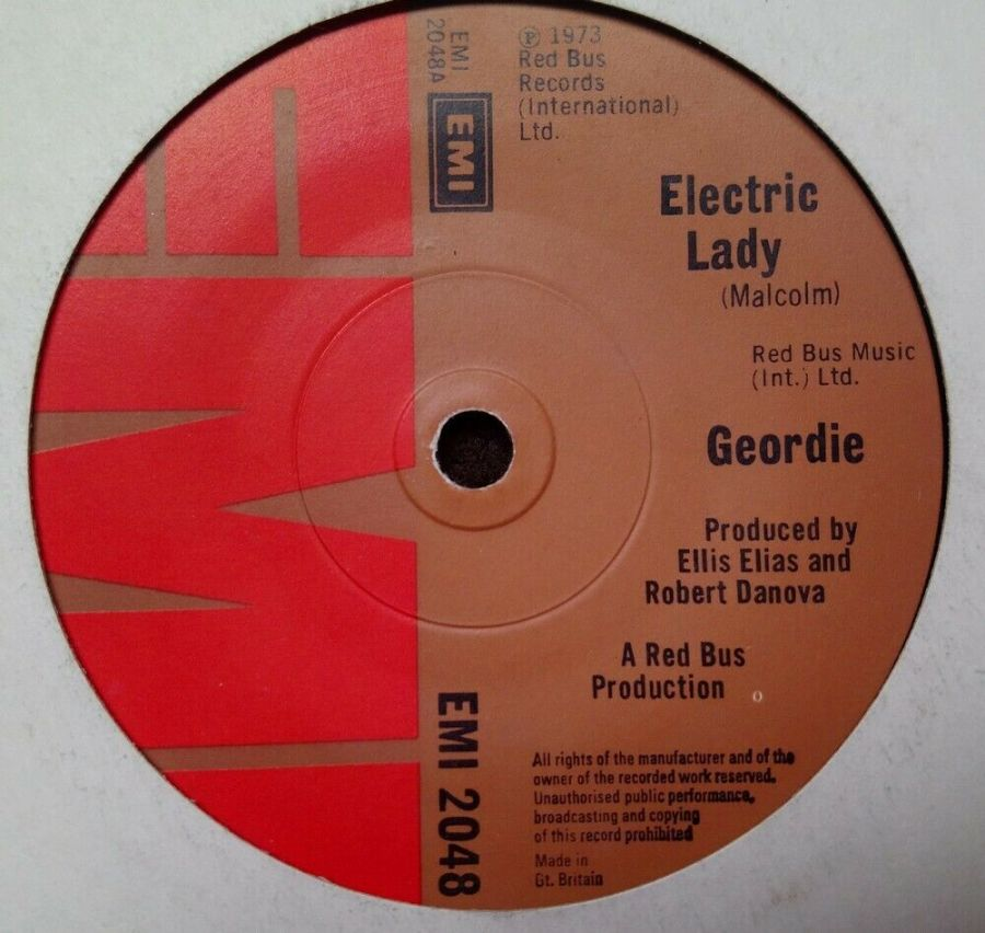 Geordie - Electric Lady - Vinyl Record 7