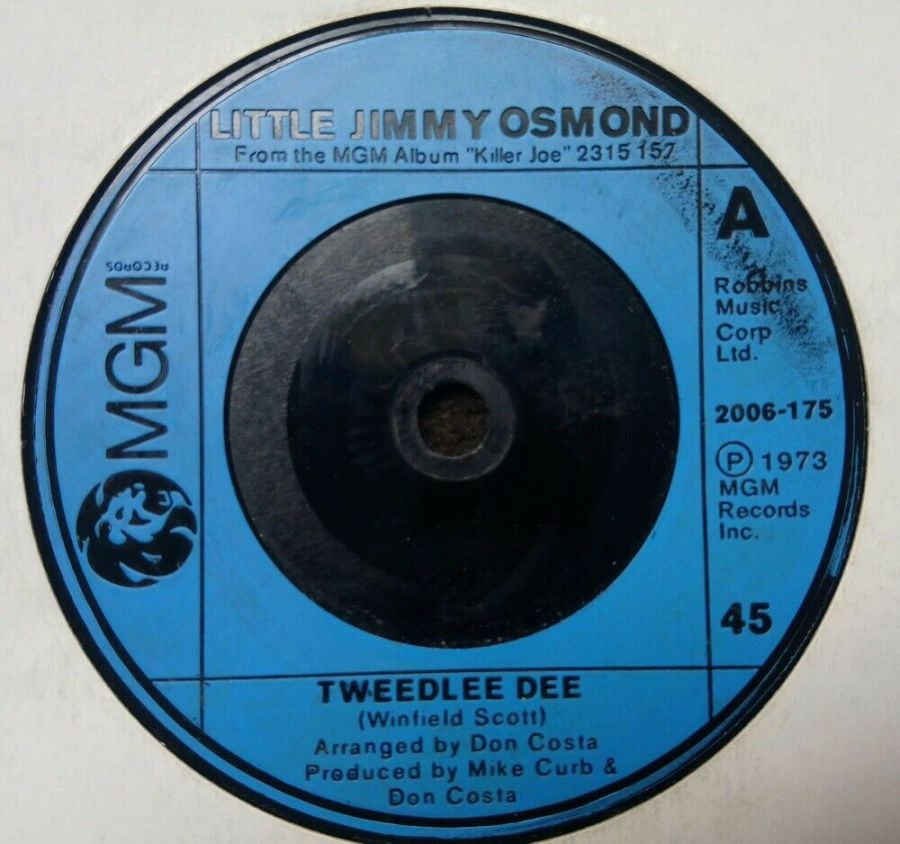 Little Jimmy Osmond - Tweedlee Dee - 7