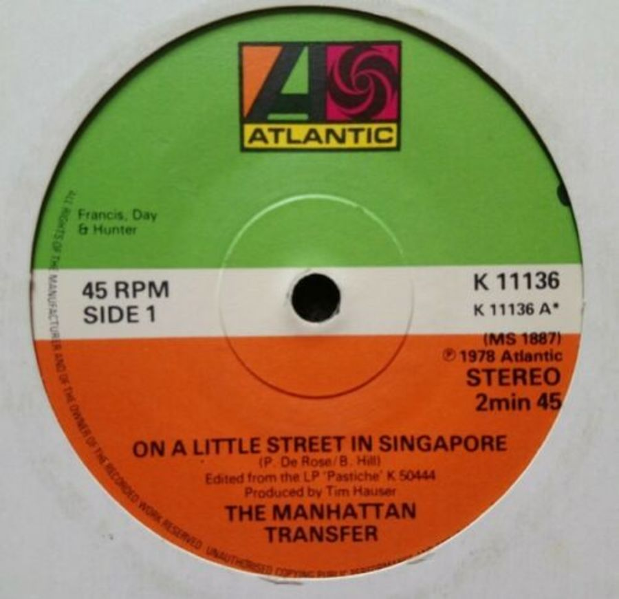 Manhattan Transfer - On A Little Street In Singapore - 7