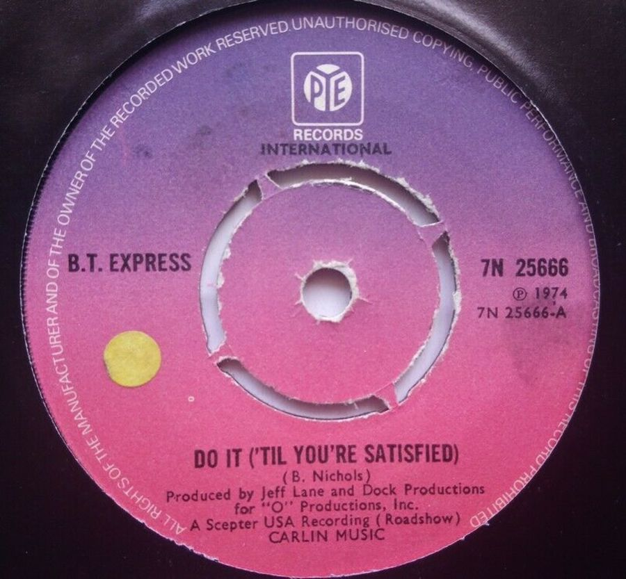 B.T. Express - Do It ( Til Your Satisfied ) - 7